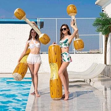 2 Stück gesetzte aufblasbare Schwimm Reihe Spielwaren, Erwachsene Kinder-Pool-Party Wassersportspiele Lügen Flöße Float Spielzeug - 6
