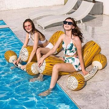 2 Stück gesetzte aufblasbare Schwimm Reihe Spielwaren, Erwachsene Kinder-Pool-Party Wassersportspiele Lügen Flöße Float Spielzeug - 7