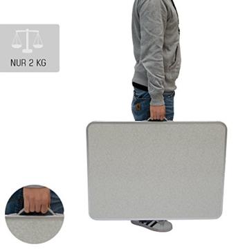 AMANKA Campingtisch 75x50cm - Klapptisch Beistelltisch Falttisch leicht stabil - 3