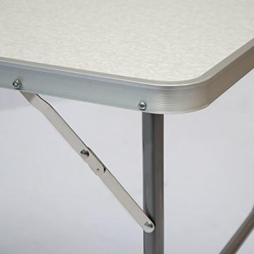 AMANKA Campingtisch 75x50cm - Klapptisch Beistelltisch Falttisch leicht stabil - 8
