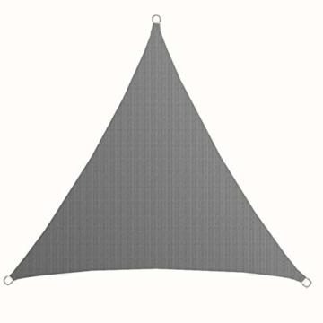 AMANKA UV Sonnensegel - 2x2x2 m HDPE Dreieck - Sonnenschutz Plane Überdachung Balkon Garten Grau - 3