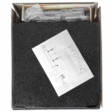anndora Granit Sonnenschirmständer 40kg rollbar 45x45cm Adapter 48, 38mm - Dunkelgrau Poliert - 6