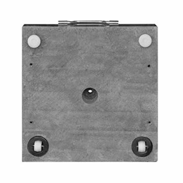 anndora Granit Sonnenschirmständer 40kg rollbar 45x45cm Adapter 48, 38mm - Dunkelgrau Poliert - 7