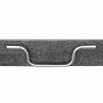 anndora Granit Sonnenschirmständer 40kg rollbar 45x45cm Adapter 48, 38mm - Dunkelgrau Poliert - 9