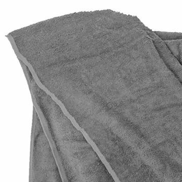 Badehandtuch groß I Strandhandtuch I Handtuch I Strandtuch XXL I Saunatuch I Großes Handtuch I Badetücher I Badetuch groß in grau von Big-Basics in Übergrößen bis 155 x 220 cm, Größe:155x220 - 3