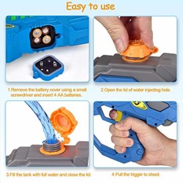 balnore Elektrische Wasserpistole mit Brille Wasserspritzpistolen Kinder Automatischer Spielzeug Wassersprühpistole Sommer Kinderspielzeug für Jungen und Mädchen - 2