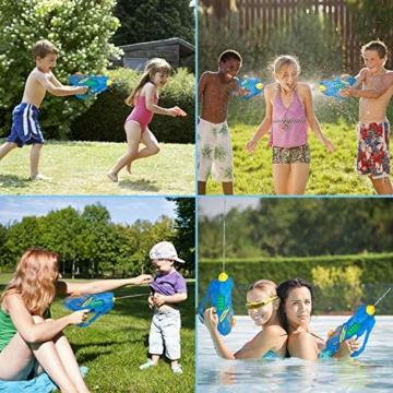 balnore Elektrische Wasserpistole mit Brille Wasserspritzpistolen Kinder Automatischer Spielzeug Wassersprühpistole Sommer Kinderspielzeug für Jungen und Mädchen - 5