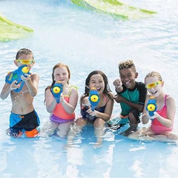 balnore Elektrische Wasserpistole mit Brille Wasserspritzpistolen Kinder Automatischer Spielzeug Wassersprühpistole Sommer Kinderspielzeug für Jungen und Mädchen - 7