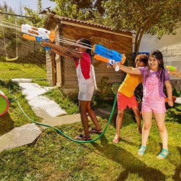 balnore Wasserpistole Spielzeug mit Langer Reichweite für Kinder Erwachsene Wasserpritzpistole 10-12 Meter Reichweiter 1200ML Strandpielzeug Garten Party Pool Strand Wasser Kampf Spiel - 5