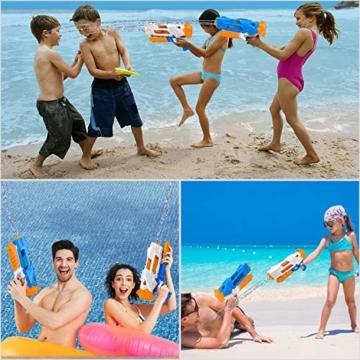 balnore Wasserpistole Spielzeug mit Langer Reichweite für Kinder Erwachsene Wasserpritzpistole 10-12 Meter Reichweiter 1200ML Strandpielzeug Garten Party Pool Strand Wasser Kampf Spiel - 7