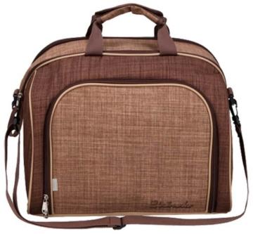 Brubaker Picknicktasche für 4 Personen mit Kühlfach - tragbar als Duffelbag oder Schultertasche - Braun 38 × 30 x 21,5 cm - 2