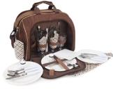 Brubaker Picknicktasche für 4 Personen mit Kühlfach - tragbar als Duffelbag oder Schultertasche - Braun 38 × 30 x 21,5 cm - 1