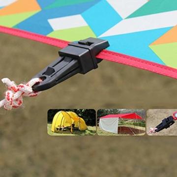 Campingzelt Clip 10 stücke Vorzeltteppich Clips Kunststoff Feststellbar Mittels Verzahnung, Mini Feste Zelt Snaps Im Freien Markise Plane Clips Zelt Befestigung für Outdoor Aktivitäten - 5