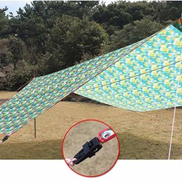 Campingzelt Clip 10 stücke Vorzeltteppich Clips Kunststoff Feststellbar Mittels Verzahnung, Mini Feste Zelt Snaps Im Freien Markise Plane Clips Zelt Befestigung für Outdoor Aktivitäten - 6