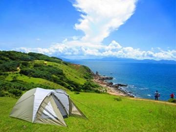 Climecare Kuppelzelt 2-3-4 Personen, Zelte 3 Jahreszeiten Kuppelzelt Outdoor Campingzelt Iglu-Zelt,doppelschichtig Wasserdichtes, 210x210x135cm - 6