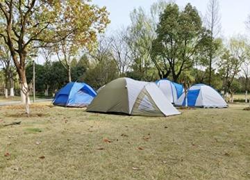 Climecare Kuppelzelt 2-3-4 Personen, Zelte 3 Jahreszeiten Kuppelzelt Outdoor Campingzelt Iglu-Zelt,doppelschichtig Wasserdichtes, 210x210x135cm - 7