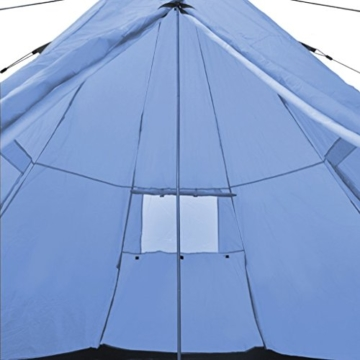 Festnight 4-Personen Zelt Campingzelt Outdoor Tent 365 x 365 x 250 cm für Wandern Camping Hiking - Hellblau - 2