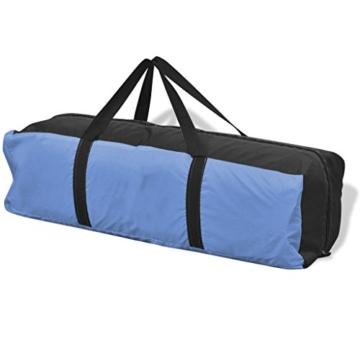 Festnight 4-Personen Zelt Campingzelt Outdoor Tent 365 x 365 x 250 cm für Wandern Camping Hiking - Hellblau - 5