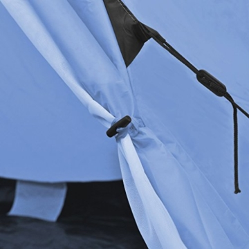 Festnight 4-Personen Zelt Campingzelt Outdoor Tent 365 x 365 x 250 cm für Wandern Camping Hiking - Hellblau - 6