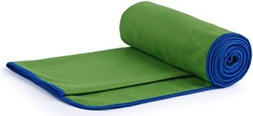 Fit-Flip Dunkelgrün mit dunkelblauen Rand, 1x 200x100cm | campinghandtuch Strandtuch 200x100 mikrofaser saunatuch 200x100 microfaser duschtücher sporthandtücher microfaser - 5
