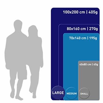 Fit-Flip Dunkelgrün mit dunkelblauen Rand, 1x 200x100cm | campinghandtuch Strandtuch 200x100 mikrofaser saunatuch 200x100 microfaser duschtücher sporthandtücher microfaser - 7