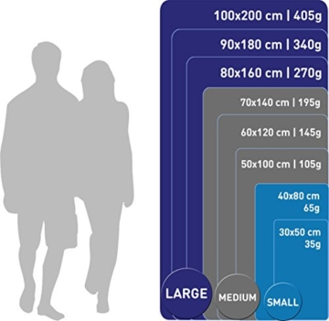 Fit-Flip Sporthandtuch, Reisehandtuch, Microfaser-Badetuch, XXL Strandhandtuch, Sauna Microfaser Handtuch groß (100x200cm blau) - 3