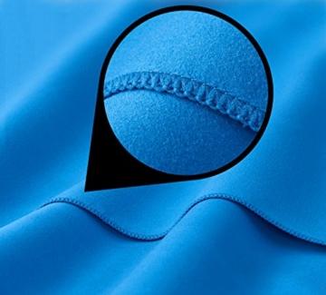 Fit-Flip Sporthandtuch, Reisehandtuch, Microfaser-Badetuch, XXL Strandhandtuch, Sauna Microfaser Handtuch groß (100x200cm blau) - 6