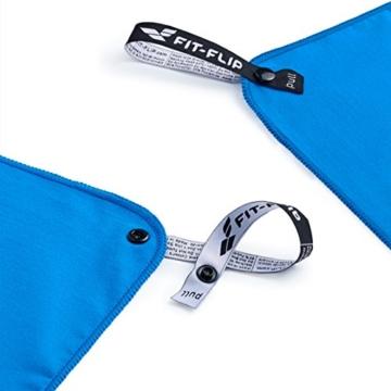 Fit-Flip Sporthandtuch, Reisehandtuch, Microfaser-Badetuch, XXL Strandhandtuch, Sauna Microfaser Handtuch groß (100x200cm blau) - 7