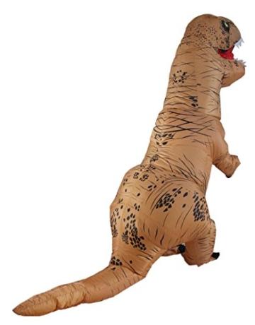 Halloween erwachsene aufblasbare T-rex Dinosaurier-Partei-Kostüm Lustige Kleid Braun - 5