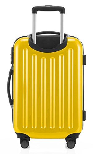 HAUPTSTADTKOFFER - Alex - 2 x Handgepäck Hartschale glänzend, 55 cm, 42 Liter, Gelb-Grün - 4