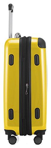 HAUPTSTADTKOFFER - Alex - 2 x Handgepäck Hartschale glänzend, 55 cm, 42 Liter, Gelb-Grün - 5