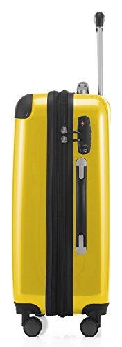 HAUPTSTADTKOFFER - Alex - 2 x Handgepäck Hartschale glänzend, 55 cm, 42 Liter, Gelb-Grün - 6