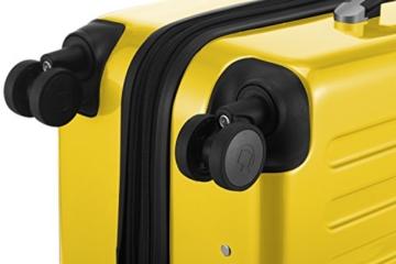 HAUPTSTADTKOFFER - Alex - 2 x Handgepäck Hartschale glänzend, 55 cm, 42 Liter, Gelb-Grün - 7