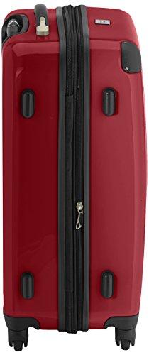 HAUPTSTADTKOFFER - Alex - 2er Koffer-Set Hartschale glänzend, 65 cm + 55 cm, 74 Liter + 42 Liter, Gruen-Rot - 2