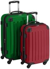 HAUPTSTADTKOFFER - Alex - 2er Koffer-Set Hartschale glänzend, 65 cm + 55 cm, 74 Liter + 42 Liter, Gruen-Rot - 1