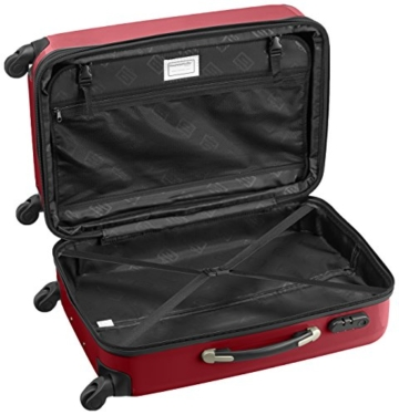 HAUPTSTADTKOFFER - Alex - 2er Koffer-Set Hartschale glänzend, 65 cm + 55 cm, 74 Liter + 42 Liter, Gruen-Rot - 3