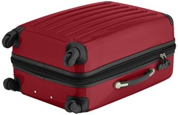 HAUPTSTADTKOFFER - Alex - 2er Koffer-Set Hartschale glänzend, 65 cm + 55 cm, 74 Liter + 42 Liter, Gruen-Rot - 4