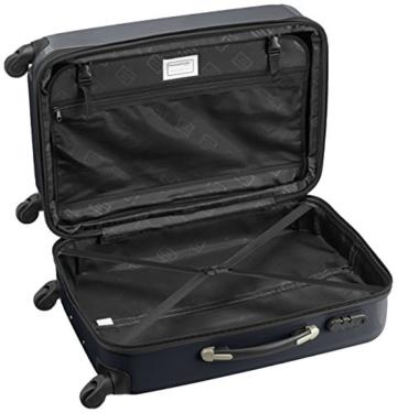 HAUPTSTADTKOFFER - Alex - 2er Koffer-Set Hartschale glänzend, 65 cm + 55 cm, 74 Liter + 42 Liter, Schwarz - 2