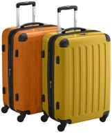 HAUPTSTADTKOFFER - Alex - 2er Koffer-Set Hartschale glänzend, TSA, 65 cm, 74 Liter, Gelb-Orange - 1