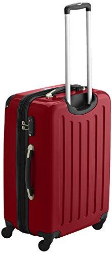 HAUPTSTADTKOFFER - Alex - 2er Koffer-Set Hartschale glänzend, TSA, 65 cm, 74 Liter, Rot-Silber - 3