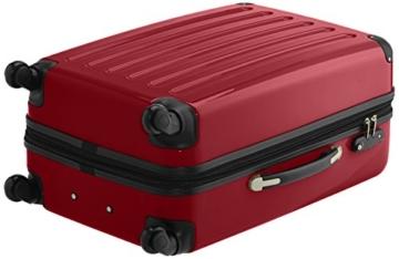 HAUPTSTADTKOFFER - Alex - 2er Koffer-Set Hartschale glänzend, TSA, 65 cm, 74 Liter, Rot-Silber - 4
