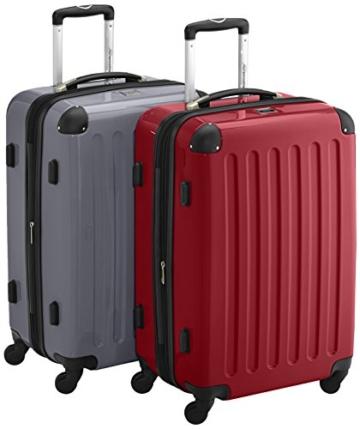 HAUPTSTADTKOFFER - Alex - 2er Koffer-Set Hartschale glänzend, TSA, 65 cm, 74 Liter, Rot-Silber - 1