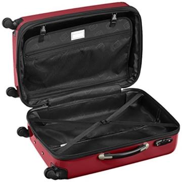 HAUPTSTADTKOFFER - Alex - 2er Koffer-Set Hartschale glänzend, TSA, 65 cm, 74 Liter, Rot-Silber - 5