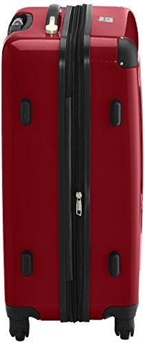 HAUPTSTADTKOFFER - Alex - 2er Koffer-Set Hartschale glänzend, TSA, 65 cm, 74 Liter, Rot-Silber - 6