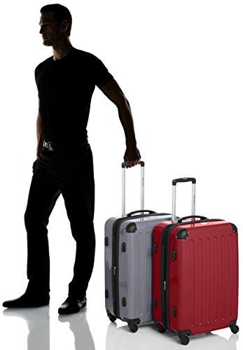 HAUPTSTADTKOFFER - Alex - 2er Koffer-Set Hartschale glänzend, TSA, 65 cm, 74 Liter, Rot-Silber - 7