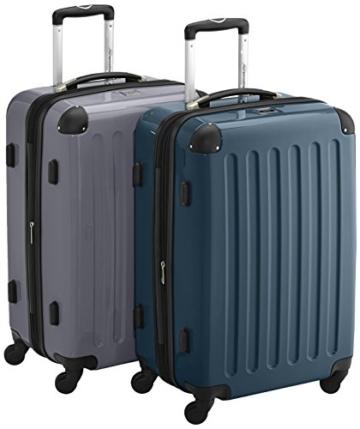 HAUPTSTADTKOFFER - Alex - 2er Koffer-Set Hartschale glänzend, TSA, 65 cm, 74 Liter, Waldgrün-Silber - 1