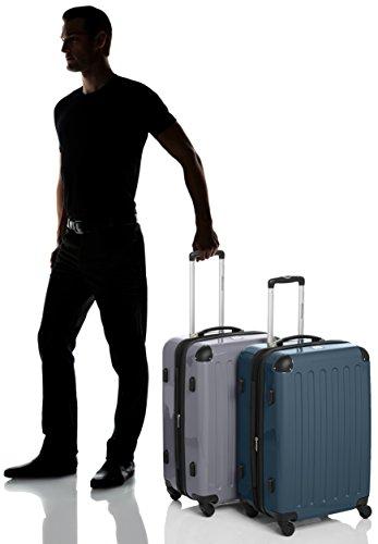 HAUPTSTADTKOFFER - Alex - 2er Koffer-Set Hartschale glänzend, TSA, 65 cm, 74 Liter, Waldgrün-Silber - 7