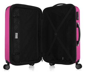 HAUPTSTADTKOFFER - Alex - 2er Kofferset Hartschale glänzend, mittelgrosser Koffer 65 cm + Handgepäck 55 cm, 74 + 42 Liter, TSA - 2