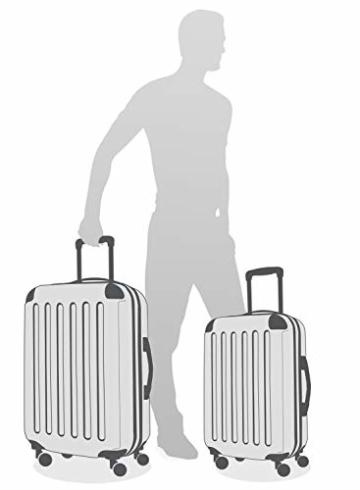 HAUPTSTADTKOFFER - Alex - 2er Kofferset Hartschale glänzend, mittelgrosser Koffer 65 cm + Handgepäck 55 cm, 74 + 42 Liter, TSA - 7