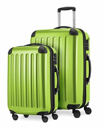 HAUPTSTADTKOFFER - Alex - 2er Kofferset Hartschale glänzend, mittelgrosser Koffer 65 cm + Handgepäck 55 cm, 74 + 42 Liter, TSA - 1
